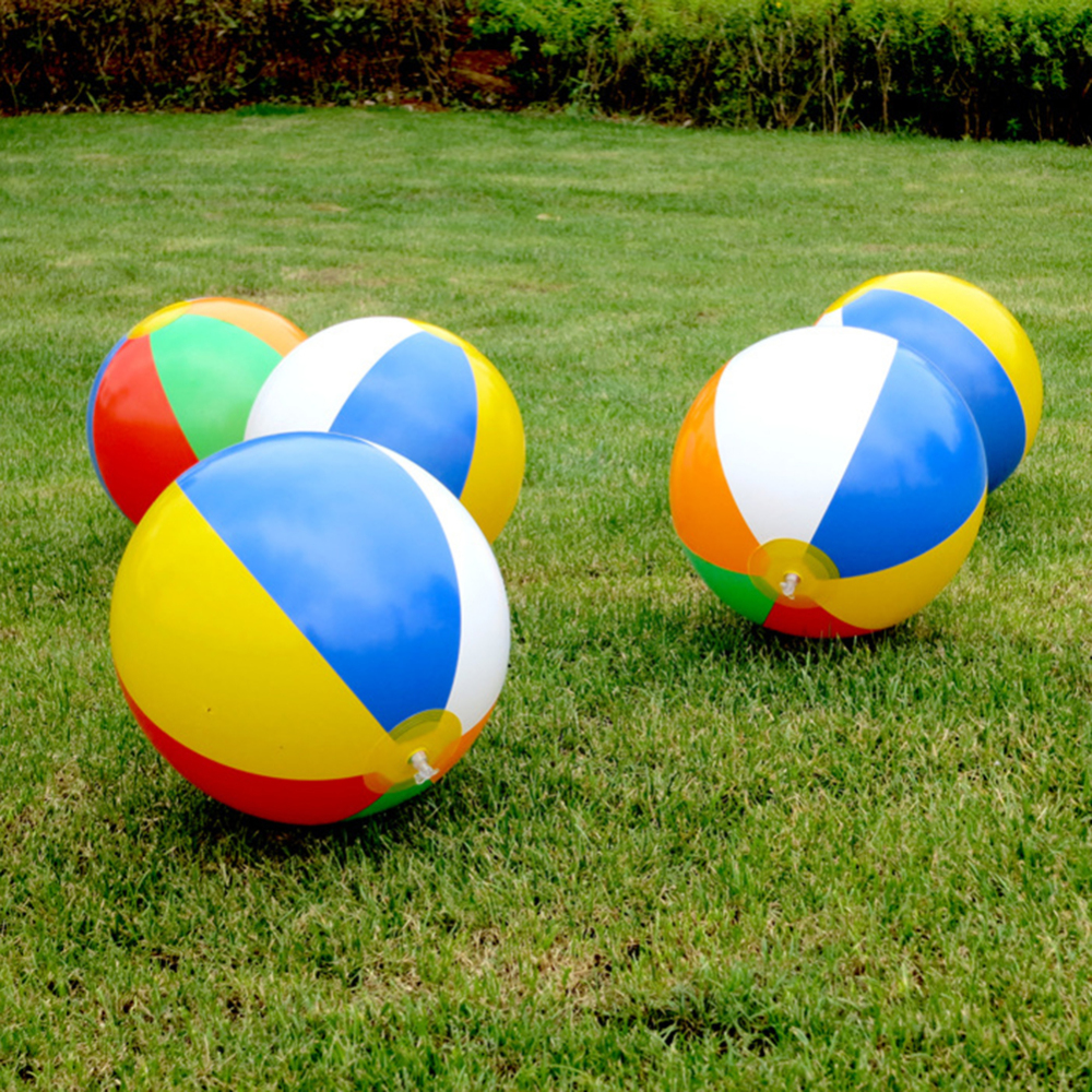 6 Pcs Inflatable Ball PVC Summer Beach Swimming Pool Colorful Ball Playing Toys For Children Kids Swim Accessories