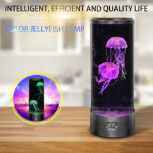 Colorful LED Desktop Simulation Jellyfish  Aquarium Style Relaxing LED Colour Changing Desk Lamps