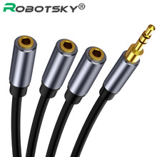 Audio Splitter Audio Cable 3.5mm 3 Female to Male Jack 3.5mm Splitter Adapter Aux Cable for iPhone Samsung MP3 Player Headphone