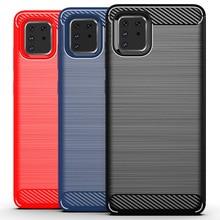 Для samsung Galaxy A81 чехол, силиконовый мягкий ТПУ матовый чехол из углеродного волокна для samsung Galaxy A81