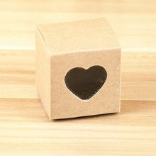 10PCS Romantic Candy Box PVC Transparent Heart-shaped Window Kraft Paper Box Wedding Favors Gifts Bag Party Wedding Supplies(China)