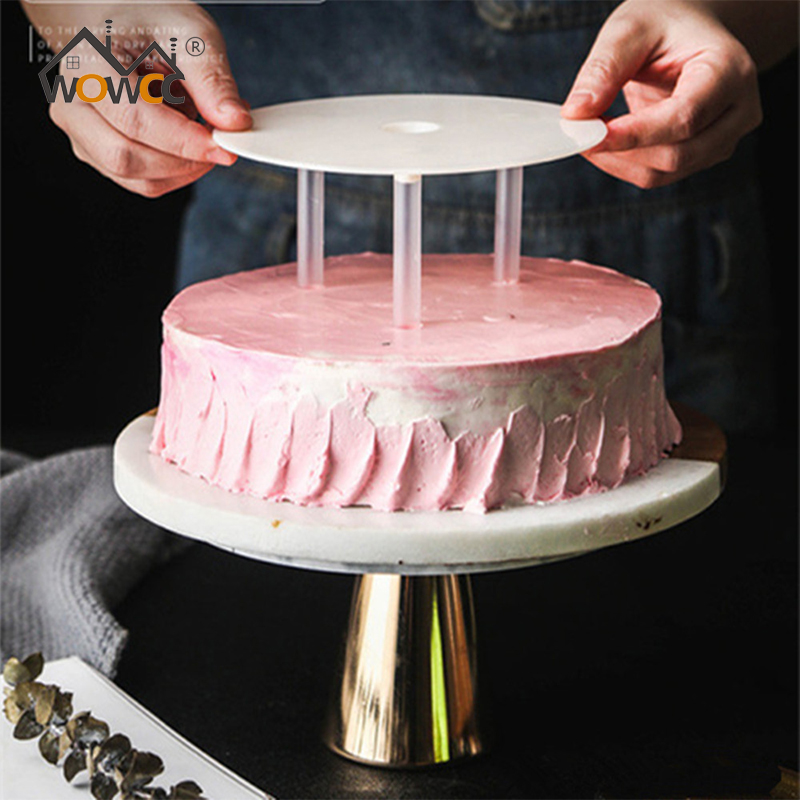WOWCC DIY Multi-layer Cake Support Frame Practical Cake Stands Round Dessert Support Spacer Piling Bracket Kitchen Cake Tool