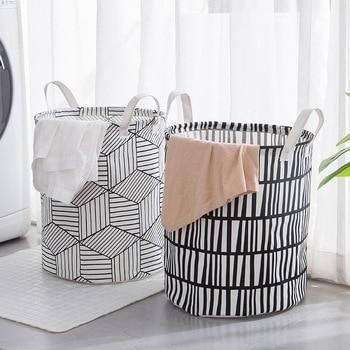 Cesta de la colada plegable bolsa de cubo de almacenamiento grande cesta plegable para ropa soporte de juguete organizador de cubo de gran capacidad