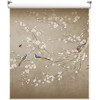Ouqiman customized curtain advertising shutter painting shading yang new Chinese retro