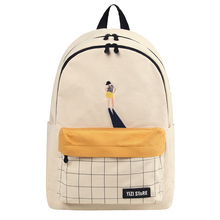 2019 YIZISTORE original creative 15inch school bags for teenagers large capacity washed canvas backpack in body building series