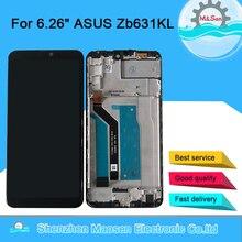 """6.26 """"オリジナルm & センasus ZB631KL液晶表示画面 + タッチパネルデジタイザーアセンブリフレームasus ZB630KLディスプレイ"""