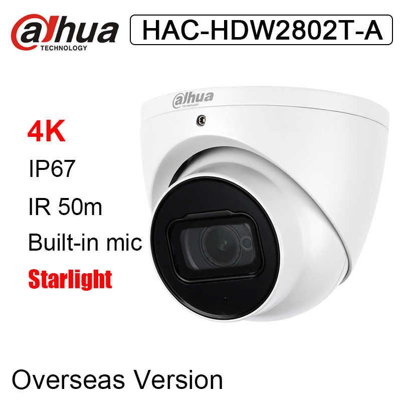 داهوا HAC-HDW2802T-A 4K النجوم HDCVI IR قبة كاميرا تلفزيونات الدوائر المغلقة 8MP IR 50m المدمج في mic التناظرية كاميرا