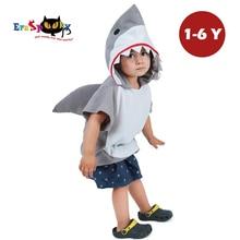 Eraspooky 1 6Years Cute Hood Shark Cosplay Halloween Costume For Kids Children Animal Toddler Carnival Party Cartoon Fancy Dress