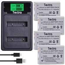 Batterie de caméra ENEL5 et chargeur LCD USB, 4 pièces, pour Nikon Coolpix P530 P520 P510 P100 P500 P5000 P5100 P6000 3700 4200