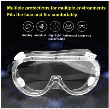 Safety Goggle Anti-splash Dust-Proof WInd-Proof Work Lab Eyewear Eye Protection Industrial Research Safety Glasses 3m 11228 safety work goggles glasses economy clear lens anti chemical splash goggle eye protection labor sand proof striking