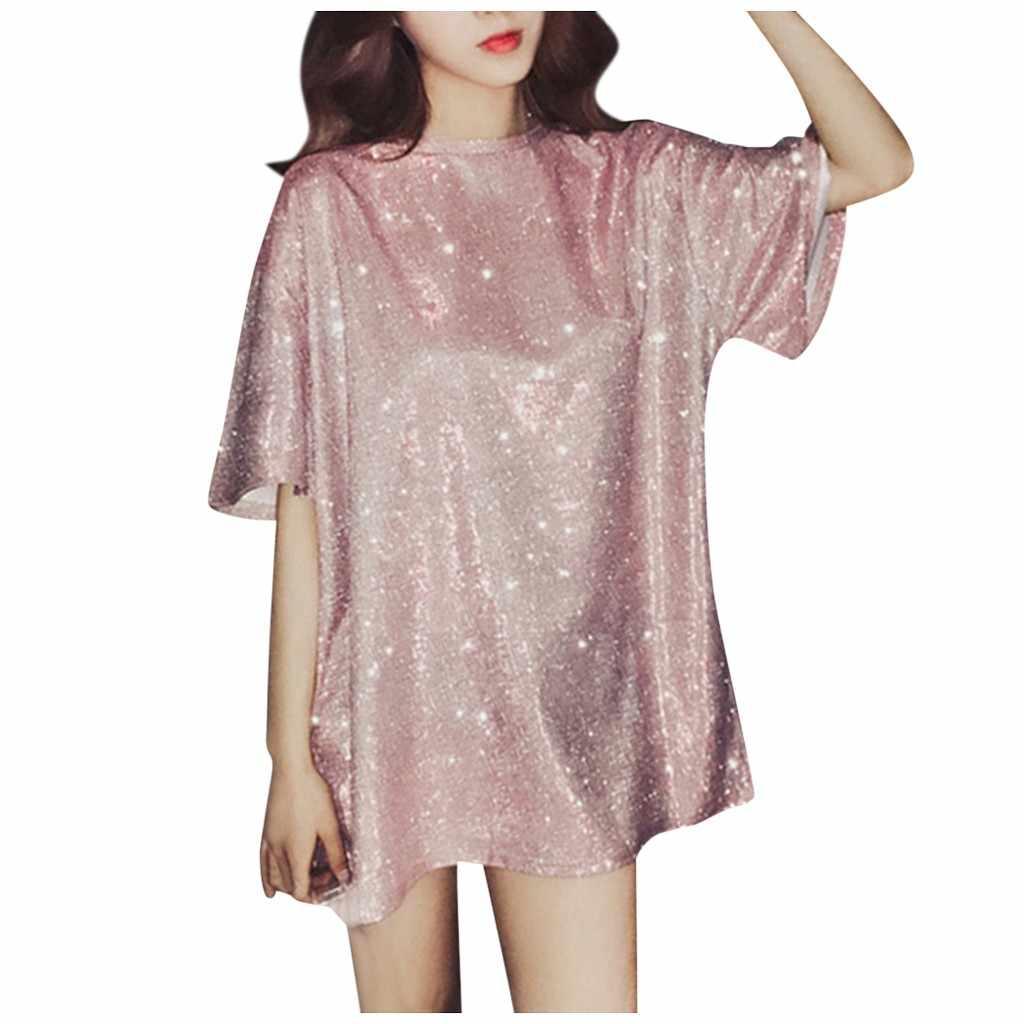 Áo Thun Vintage Hàn Quốc Dạo Phố Chắc Chắn Áo Rời Phản Quang Trên Quần Áo Dài Nữ Kích Thước Hip Hop Thun Camiseta Mujer Tee