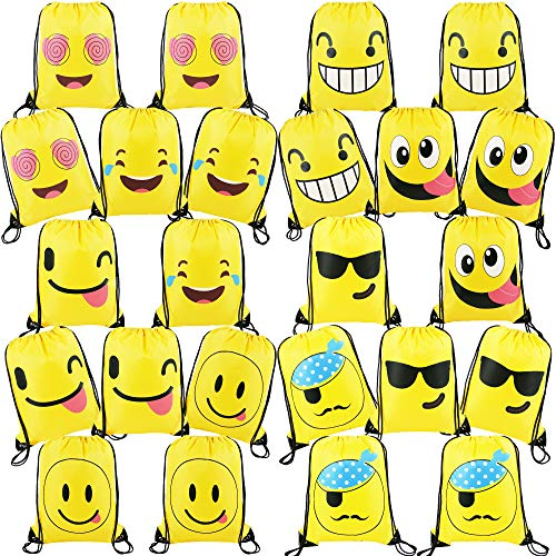 CUSTOM LOGO BAGS HANDBAGS Emoticons Party Supplies Gift Bag Drawstring Backpack Bag Is Suitable For Birthday Gifts),