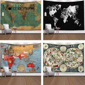 230x180 Ретро Карта мира настенный гобелен спальный коврик настенный гобелен Искусство Круглый полотенце пляжное одеяло Декор 200x150 см гобелен