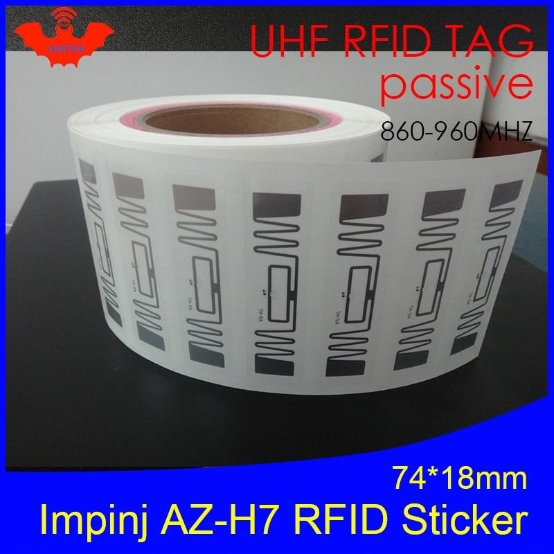 RFID Sticker UHF NXP Ucode7 Chip AZ-H7 Inlay 900 915 868mhz 860-960MHZ Higgs3 EPCC1G2 6C Smart Card Passive RFID Tags Label
