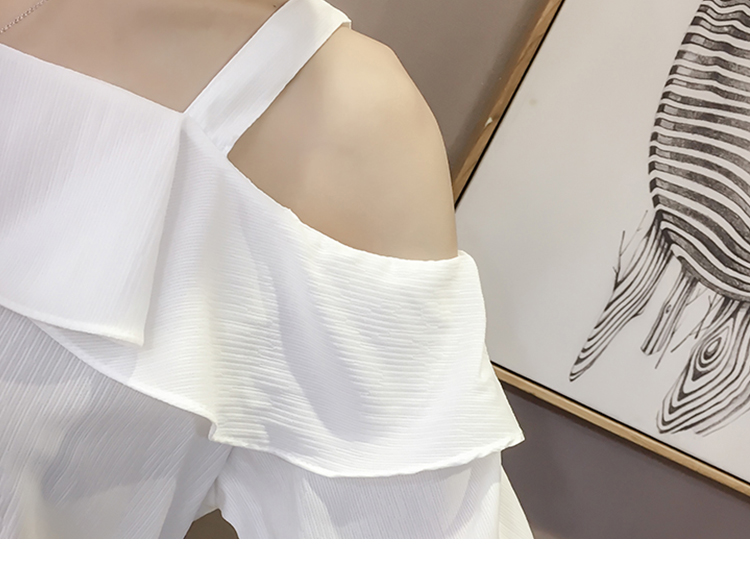 New Spring Fashion Sexy Style Solid Women Shirts Women Tops Short Sleeved Blouses Ruffles Casual Women Clothing D546 30 6