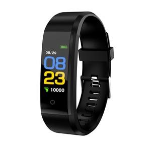 Pulseira inteligente rastreador de fitness 0.96in tft tela monitor de freqüência cardíaca monitoramento sono lembrete chamada banda inteligente esporte