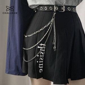 Star Pant Chain Women Three Layer Street Metal Trousers Key Chain Punk Hip-Hop Waist Chains Belt For Pants Jeans 200