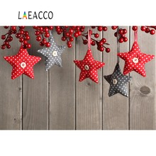 Laeacco Wooden Board Christmas Pine Star Pendant Party Child Portrait Photography Backdrops Backgrounds Photocall Photo Studio цена