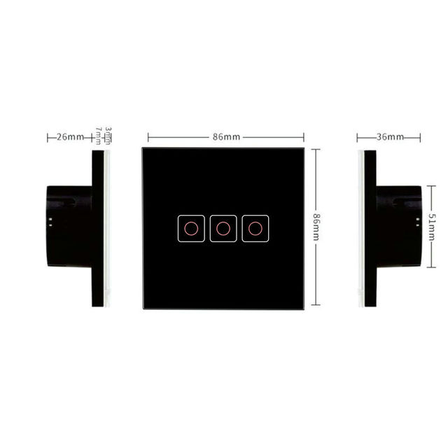 Interruptor Táctil para Luz de 220V Inteligente