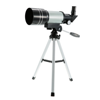 Outdoor HD Monocular 150X Refractive Space Astronomical Telescope Travel Spotting Scope with Portable Tripod Adjustable Lever