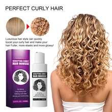 30ml kręcone włosy mus Anti-Frizz pianka do włosów mus rzeźbienie kręcone włosy mus kręcone wykończenie włosów dla kobiet tanie tanio CN (pochodzenie) Curly Hair Mousse Lakier do włosów VXCB1456