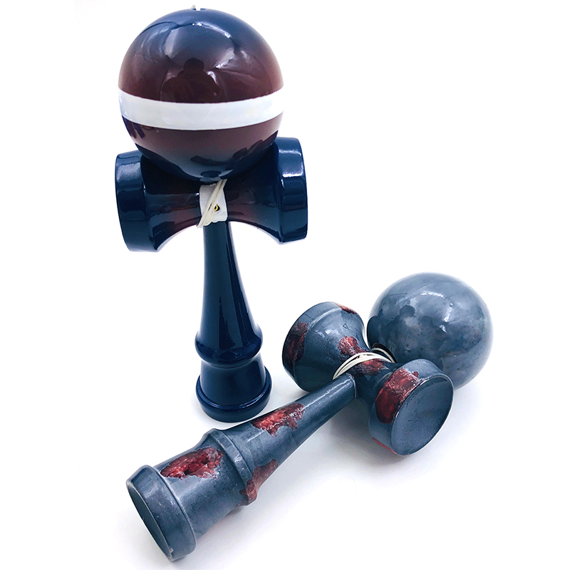 18cm Professional Kendama Wooden Toy Graffiti Color Skillful Juggling Balls Antistress Ball Outdoor Sport For Children Education
