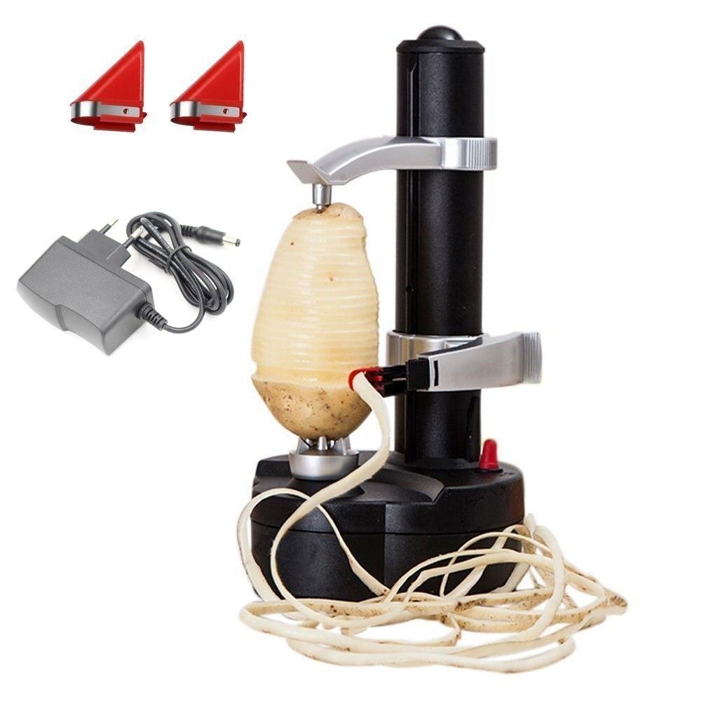 Cortador de Frutas e Legumes Multifuncional Automático Elétrico Frutas Peele Batata Rotativa Maçã Aparas Máquina Cozinha Accessorie