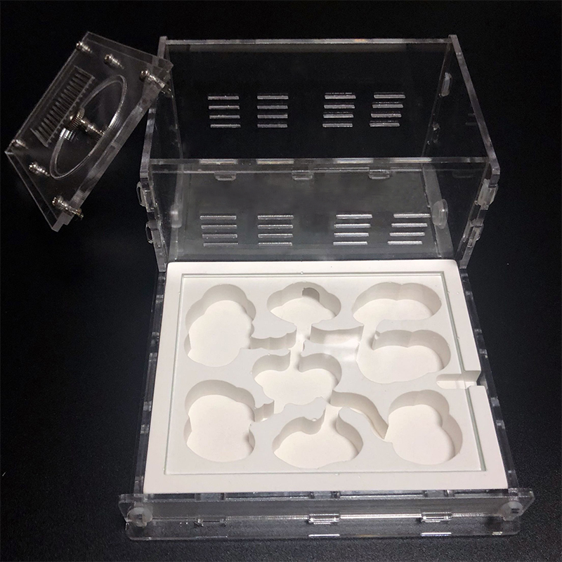 Acrylic Flat Ant Farm Ecological Plaster Ant Nest With Feeding Area Gypsum Ant House Anthill Pet Ant Workshop 8* 13*7.5cm NEW
