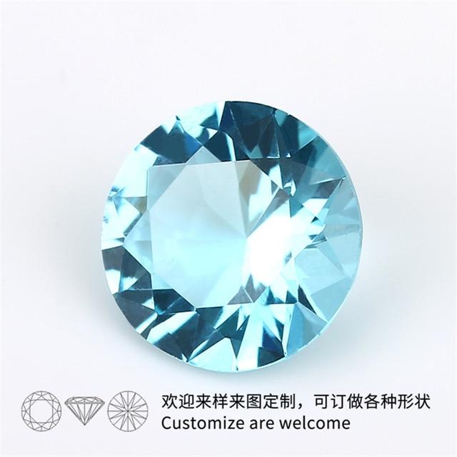 Фото размер 1 мм ~ 15 круглый стеклянный камень белый зеленый синий