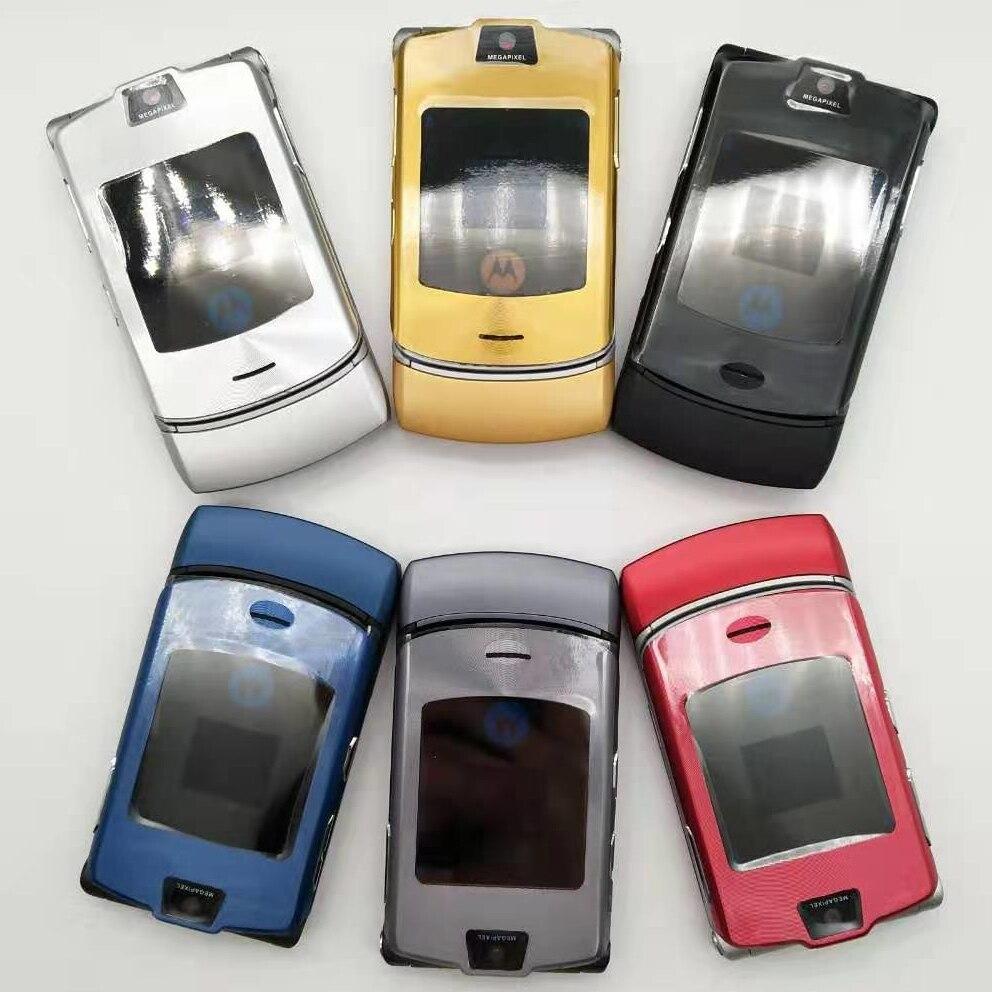 Фото. 100% Оригинальные Motorola RAZR V3i открыл мобильный телефон GSM флип Bluetooth телефон один год гар