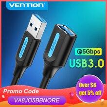 Vention USB удлинитель USB 3,0 2,0 УДЛИНИТЕЛЬ шнур для Smart TV SSD Xbox One ноутбук ПК Быстрая скорость USB 3,0 кабель удлинитель