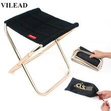 VILEAD 2 размера складной стул для кемпинга Сверхлегкий 7075 алюминиевый портативный для рыбалки кемпинга пикника туристический уличный складной стул