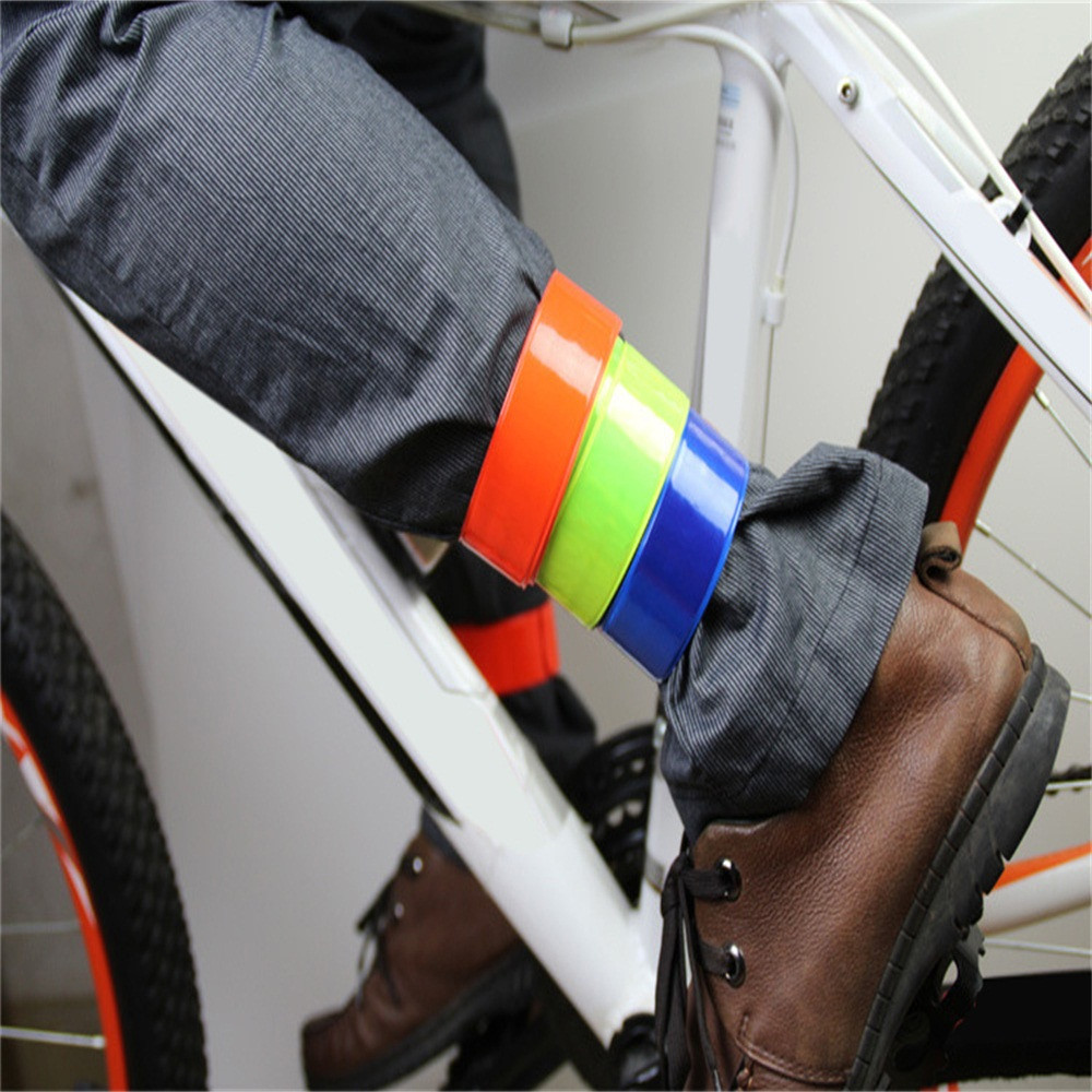 1Pcs Safety Bicycle Reflective Safe Leg Pants Clip Strap Beam Band Bottom Belt