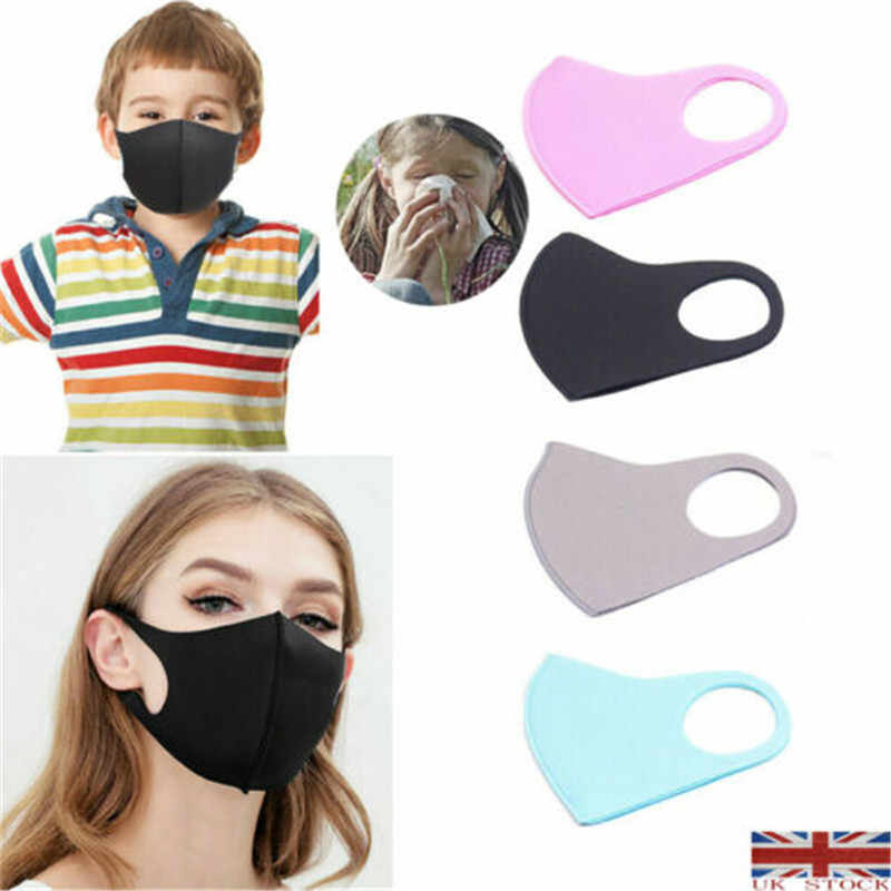 Unisex Adult/Kids PM2.5 Face Mask Reusable Anti Pollution Breathable Mouth Mask