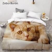 3D Duvet Cover,Comforter/Quilt/Blanket case Double/Queen/King,Bedding Custom/220x240/200x200,Animal pet cat pattern,Drop ship