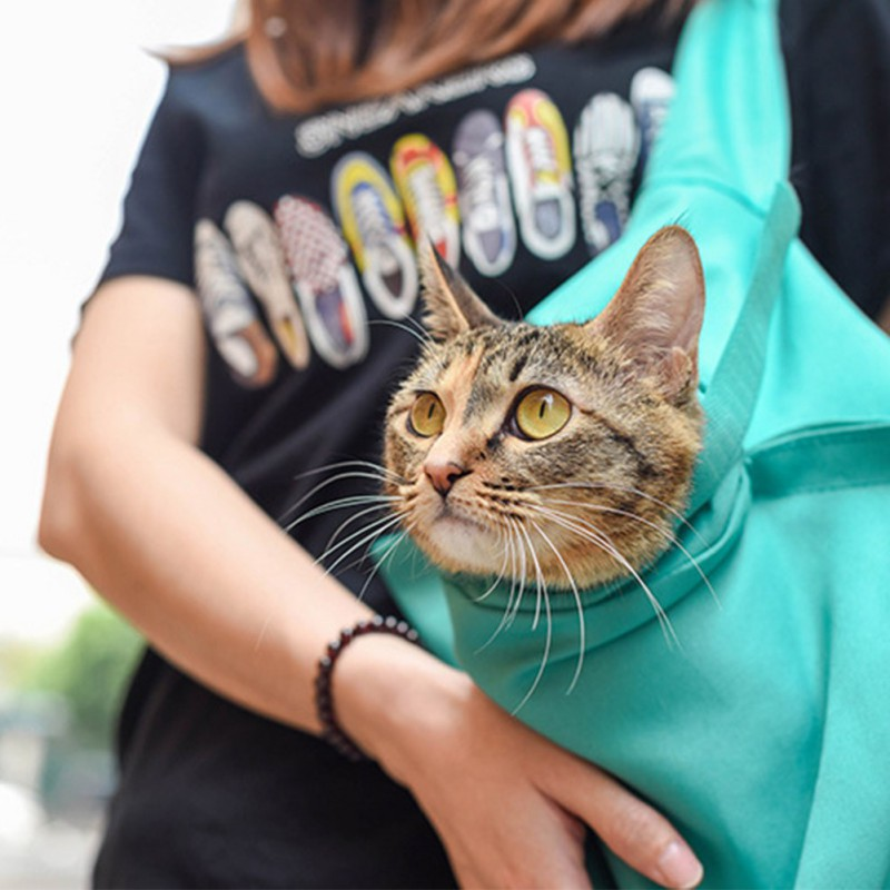 Portable Pet Carrier Bag Outdoor Travel Sling Carrier For Puppy Cats Foldable Carrying Hands Free Shoulder Bags For Gatos 2
