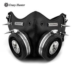 Image 1 - Steampunk Masker Cosplay Skull Masque Mannen/Vrouwen Gothic Leren Masker