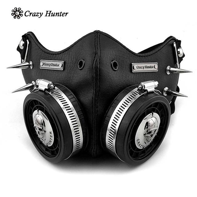 Steampunk Masker Cosplay Skull Masque Mannen/Vrouwen Gothic Leren Masker
