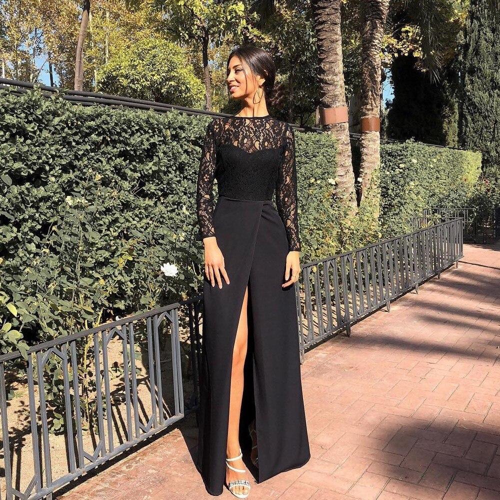 2020 Long Plus Size Muslim Prom Evening Dresses Dubai Women's Night Formal Party Gala Dress