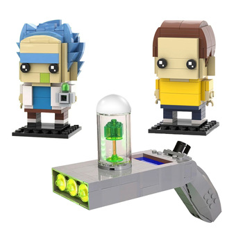 NEW Rick and morty Portal Gun MOC Building Blocks