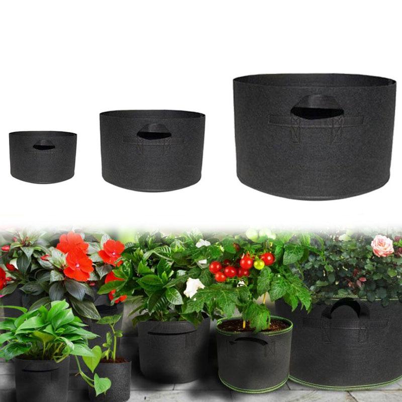 15 20 30 100 Gallon Grow Bags Garden Seedling Fabric Large Plant Tree Pots Seedsplants Home Vegetable Strawberry Jardin Growing