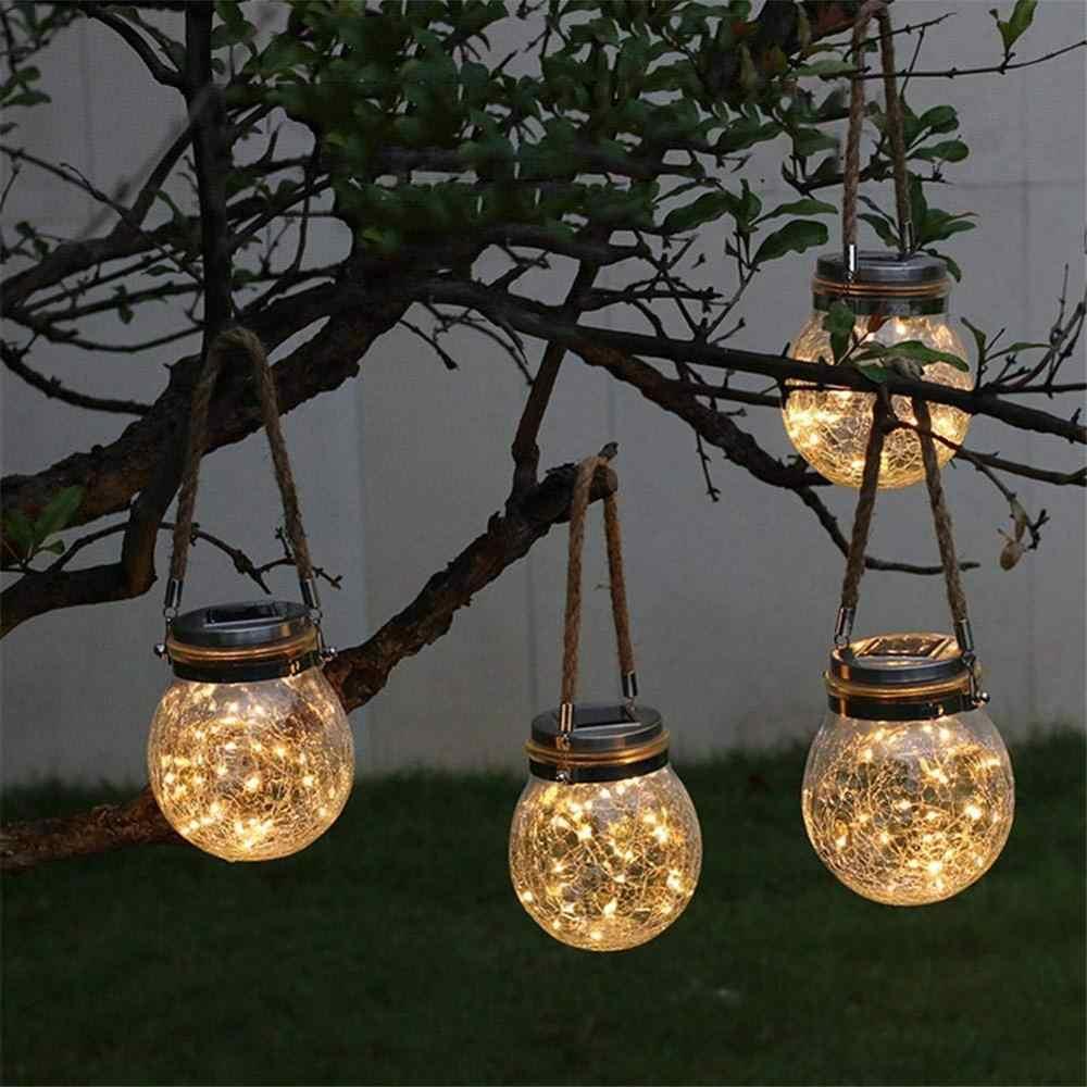 luz de hadas led con carga solar jarras de luces led decorativas para patio exterior fiestas o bodas con recarga de luz solar