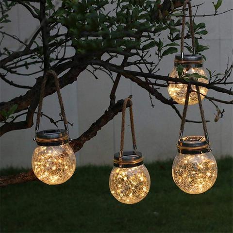 led solar luz de fadas alimentado mason jar luzes para patio ao ar livre festa