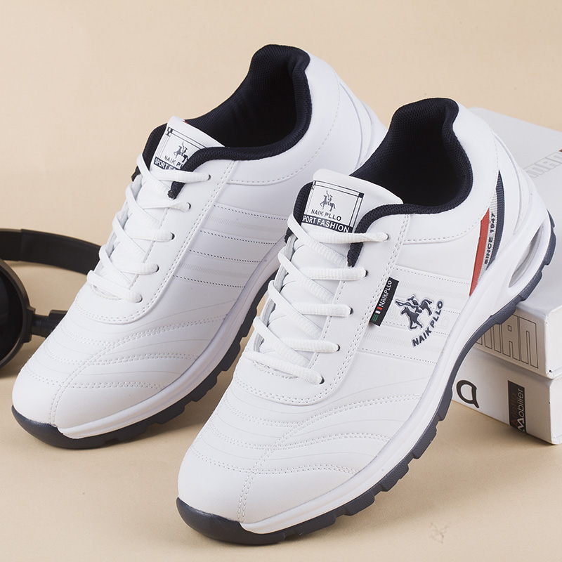 2020 New Men's Golf Shoes Waterproof Air Cushion Comfortable Classic Men's Sneakers White Black Lightweight Golf Shoes 1