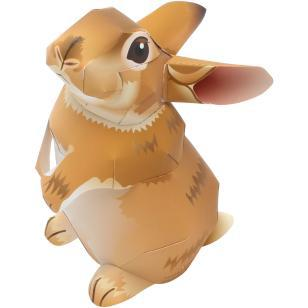 Mini Lis Rabbit 3D Paper Model Parent-child DIY Cartoon Animal Kindergarten Handmade Origami Children's Puzzle