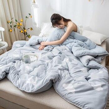 Textiles para el hogar ropa de cama edredones de alta calidad cómodo de lujo espesar invierno colcha caliente calidad manta de costura