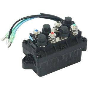 Image 1 - Motor Power Trim 12V pratico 3 Pin Assy motore barca inclinazione parti in alluminio relè fuoribordo misura diretta 120A per Yamaha 6H1 81950 00