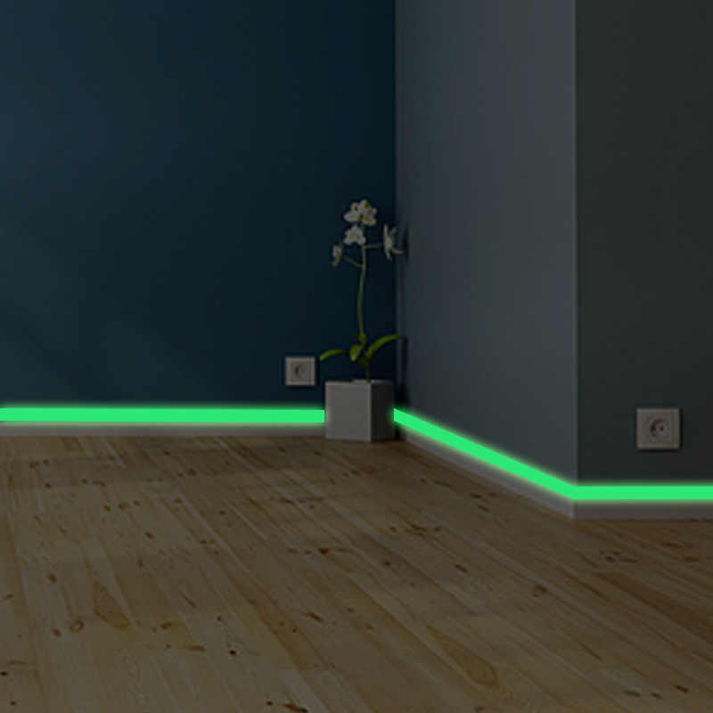 Banda luminosa battiscopa Autoadesivo Della Parete soggiorno camera da letto Eco-Friendly decorazione della casa della decalcomania Glow in the dark Strip FAI DA TE Adesivi