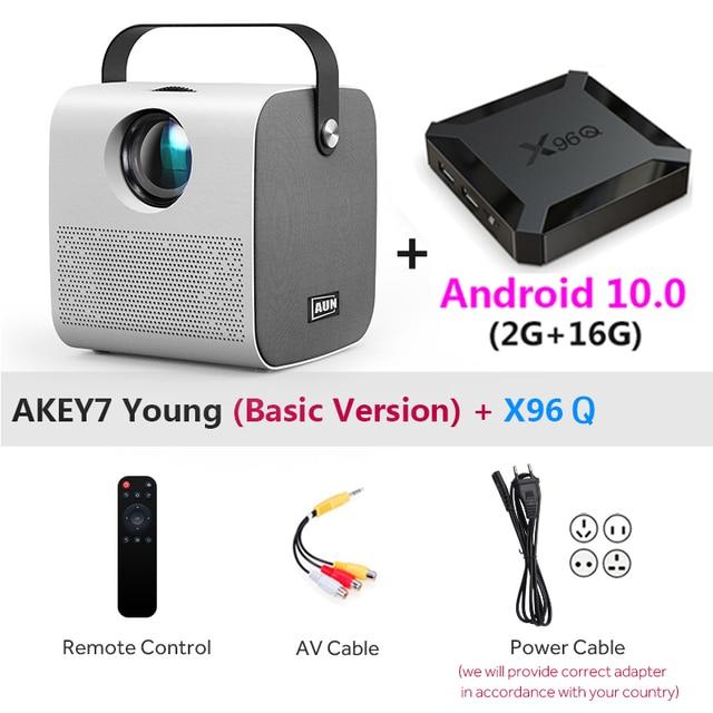 AUN AKEY7 Young 720p + HDMI Dongle + X96Q Android 10 2Gb 16Gb TV Box