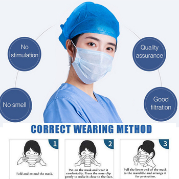 Fast Delivery 10PCS Anti Pollution Virus KN95 Mouth Mask Dust Respirator Face Mouth Masks Mouth Earloops Masks tanie i dobre opinie disposable face masks dust fil tering three layers 50pcs=1box